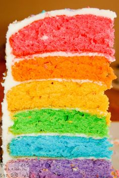 Rainbow Cake from Scratch