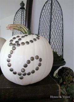 Upholstery Tack Monogram Pumpkin