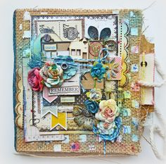 Kelly Foster: All The Pretty Things: Things To Remeber Forever - Burlap Mini Album - Flying Unicorn