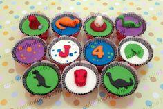 Cupcakes dinossauros!!   curta nossa página no Facebook: www.facebook.com/sonhodocerj
