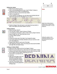 Edit, Outline and use the Knife feature in the new version 8 Software from Bernina.