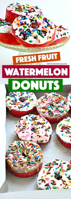 See your favorite summer fruit differently and turn them into HEALTHY watermelon donuts!