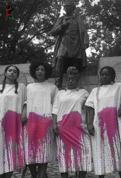"""J. Marion Sims was a gynecologist in the 1800s who purchased Black women slaves and used them as guinea pigs for his untested surgical experiments. He repeatedly performed genital surgery on Black women WITHOUT ANESTHESIA because according to him, """"Black women don't feel pain."""" Despite his inhumane tests on Black women, Sims was named """"the father of modern gynecology"""", and his statue currently stands right outside of the New York Academy of Medicine. #FightSupremacy"""