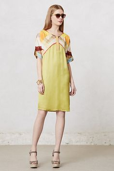 Softened Angles Tunic Dress #anthropologie