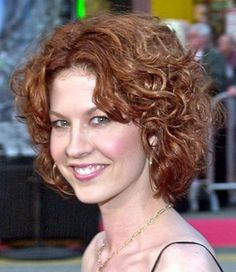 Medium length curly Hair Styles For Women Over 40   Naturally ...