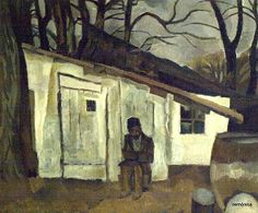 Iser, Iosif (1881-1958) - 1916-18 Old Man Sitting in Front of His Shanty (National Museum of Art, Bucharest, Romania) by RasMarley, via Flickr