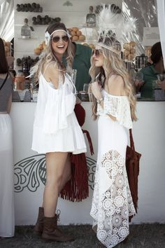 white crochet dresses at the pool party. Love the look