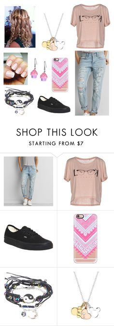 """""""Amusement park. """" by myfavouritedream ❤ liked on Polyvore featuring American Eagle Outfitters, ONLY, Vans, Casetify and Disney"""
