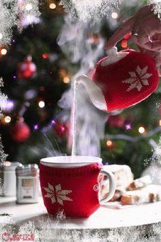 js hello new year hello january please gif Christmas Coffee, Christmas Morning, Christmas And New Year, Winter Christmas, Merry Christmas, Xmas, Christmas Scenes, Christmas Quotes, Christmas Colors
