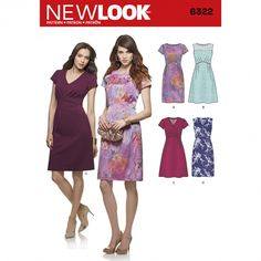 New Look 6322 Women's Dress with Bodice and Skirt Variations Sewing Pattern