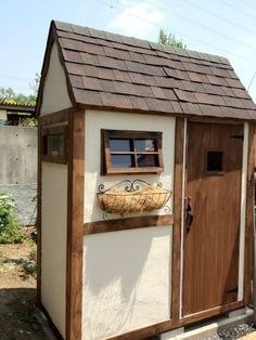 Rock Room, Garden Tool Shed, Garage Shed, Room Of One's Own, Playhouse Outdoor, Wood Shed, Coffee Shop Design, House Front, Play Houses