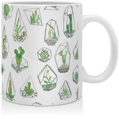 Deny Designs Dash and Ash I Like Plants Mug (935 RUB) ❤ liked on Polyvore featuring home, kitchen & dining, drinkware and deny designs