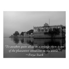 Inspirational Travel Quotes poster showing exotic India...quote by Freya Stark, photography by Tammy Winand
