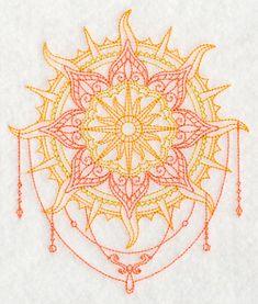 Mehndi Sun design (L4579) from www.Emblibrary.com