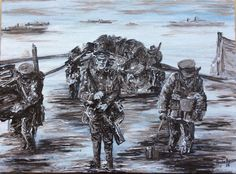 """""""Landing 25th April 1915"""" from Centenary Collection by Paul Benson"""