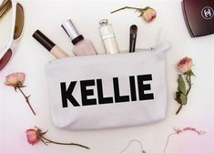 Selfie Prep Kit Custom Makeup Pouch, one of a kind cosmetic bags, personalized birthday gifts Personalized Makeup Bags, Personalized Birthday Gifts, Personalized Mugs, Makeup Pouch, Cosmetic Pouch, Bridesmaid Bags, Bridesmaids, Bridesmaid Makeup, Custom Makeup Bags