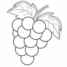 Aneka Gambar Mewarnai Gambar Mewarnai Buah Anggur Untuk Anak Paud
