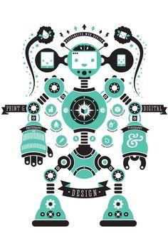 Robot poster - Blair Wightman