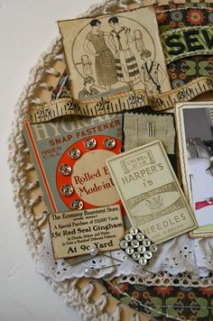 a great idea for dec items with old sewing machine