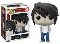 Funko Pop Anime Death Note L From Death Note, L, as a stylized POP vinyl from Funko! Stylized collectable stands 3 ¾ inches tall, perfect for any Death Note fan! Collect and display all Death Note POP! Death Note L, Death Note Funny, Pop Vinyl Figures, Anime Pop Figures, Funko Pop Anime, Pop Figurine, Funk Pop, L Lawliet, Pop Toys