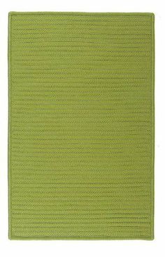 """Simply Home Solids Bright Green Rug Rug Size: 11' x 14' by Colonial Mills. $872.00. H271R132X168S Rug Size: 11' x 14' Features: -Technique: Braided.-Material: 100pct Polypropylene.-Origin: USA.-Reversible.-Stain resistant.-Fade resistant. Construction: -Construction: Hand guided. Dimensions: -Pile height: 0.5"""".-Overall Dimensions: 34-168'' Height x 22-132'' Width x 0.5'' Depth. Collection: -Collection: Simply Home Solid."""