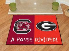 "South Carolina - Georgia House Divided Rug 33.75""x42.5"""