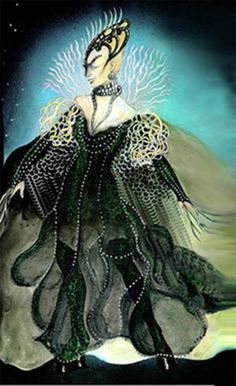 The Magic Flute (Queen of the Night). Costume design by Laura Crow.