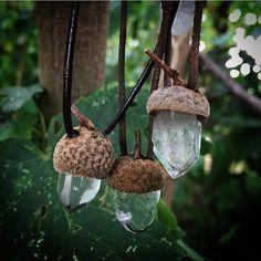crystal *acorn* pendants ♥