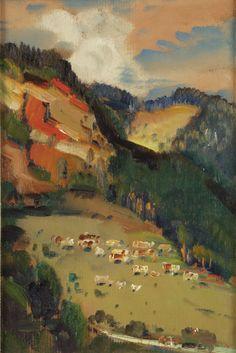 Martin Benka: Krajina pri Tisovci. 1948.