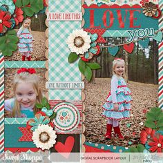 Digital Scrapbook Layout by Nikki Hawkins using these products from Sweet Shoppe Designs #Moments: Love - Collection by Amber Shaw Template by Cindy Schneider