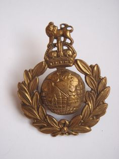 Royal Marines Cap Badge - King's Crown