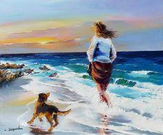 Breathtaking Oil Paintings of France by Christian Jequel Seascape Paintings, Oil Paintings, French Artists, Beach Art, Bunt, Painting & Drawing, Watercolor Paintings, Pop Art, Art Gallery