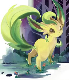 I don't know why, but this leafeon reminds me of flora from professor layton