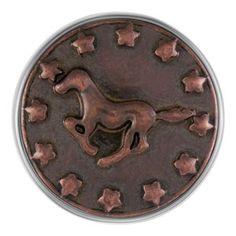 Copper Running Horse Magnolia and Vine Snap
