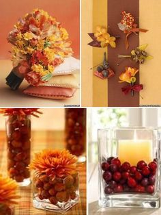 Fall Wedding Inspiration   Calligraphy by Jennifer like jars with nuts berries