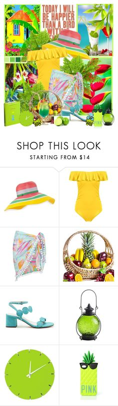 """""""Tropical"""" by lilarose111 ❤ liked on Polyvore featuring Missoni, Boohoo, Sole Society, Pier 1 Imports, Scale 1:1 and Victoria's Secret"""