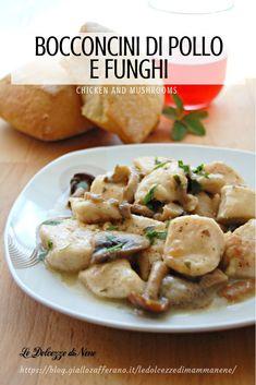 BOCCONCINI DI POLLO E FUNGHI cremoso, facile e goloso - CHICKEN AND MUSHROOMS #ricetta #recipe #pollo #chicken #funghi #mushroom #polloconfunghi #cucinaitaliana #food #secondo #carne