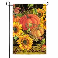 Pumpkins and Sunflowers Garden Flag