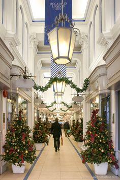 London's Princes Arcade at Christmas
