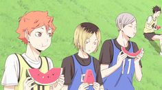 not-haikyuu:The way Kenma eats is adorable