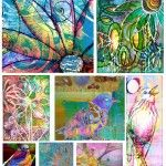 digital collages sheets for journals