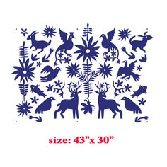 Mexican Otomi fabric textiles Allover Designer Pattern Stencil better than wallpaper or vinyl decals Home Decor from Stencil Boss on Storenvy