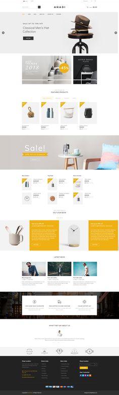 Anadi - WooCommerce Furniture WordPress Theme #clothes #digital #fashion • Download ➝ https://themeforest.net/item/anadi-woocommerce-furniture-wordpress-theme/20625490?ref=pxcr