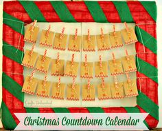 Awesome Christmas countdown calendar in a HUGE frame!