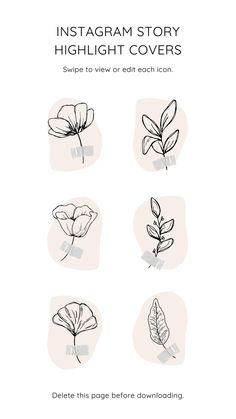 Floral Instagram Story Highlight Icons – Free Canva Template #instagram #story #template #canva #canvapro #minimalist #minimal #simple #beauty #cosmetic #elegant #chic #design #social #media #feminine #highlight #icon #flower #flowers #leaf #leaves #diy #cover #free #freebie