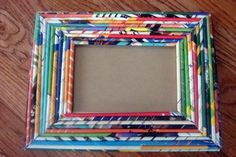 Recycled Magazine Picture Frame by NOTsoP1NK on Etsy