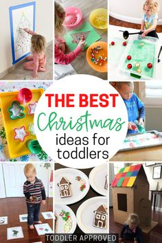 Easy toddler Christmas activities Christmas Tree Game, Christmas Arts And Crafts, Toddler Christmas, Simple Christmas, Christmas Themes, Merry Christmas, Christmas Activities For Toddlers, Craft Activities, Toddler Activities