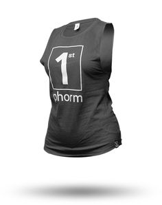 In case you ladies like a different cut tank than the racerback design, we've got you covered. The wide shoulder and extended arm openings makes this tank look like those t-shirts that we all used to cut the sleeves off of, but without the fraying edges.