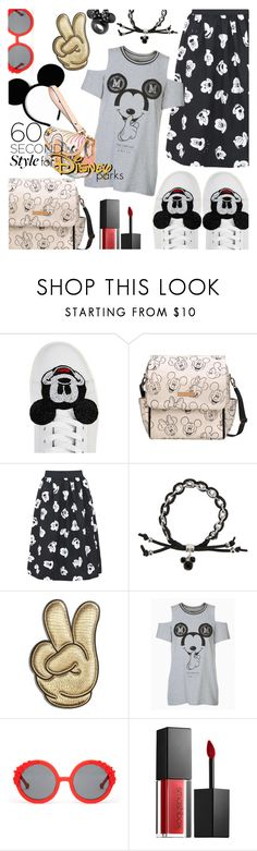 """""""60 Second Style: Disney Parks"""" by stacey-lynne ❤ liked on Polyvore featuring MOA Master of Arts, Disney, Anya Hindmarch, Preen and Smashbox"""