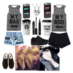 """""""Jayy & Lizze ❤"""" by jayy-biersack ❤ liked on Polyvore featuring Smashbox, Band of Outsiders, Vans, Topshop, Bling Jewelry and JFR"""